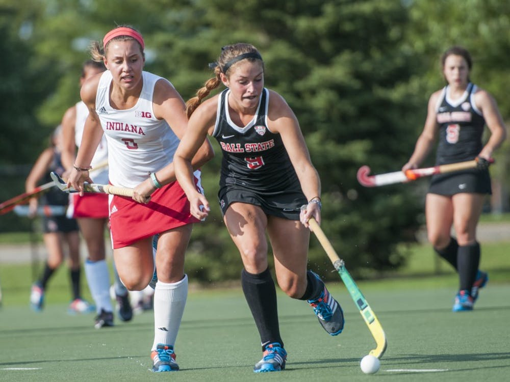 The Ball State field hockey team faced Indiana University on Sept. 17 at the Briner Sports Complex. Ball State lost 2-0.