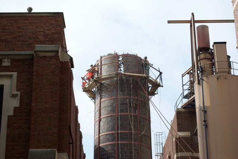 Ball State ends coal era with smokestack removal
