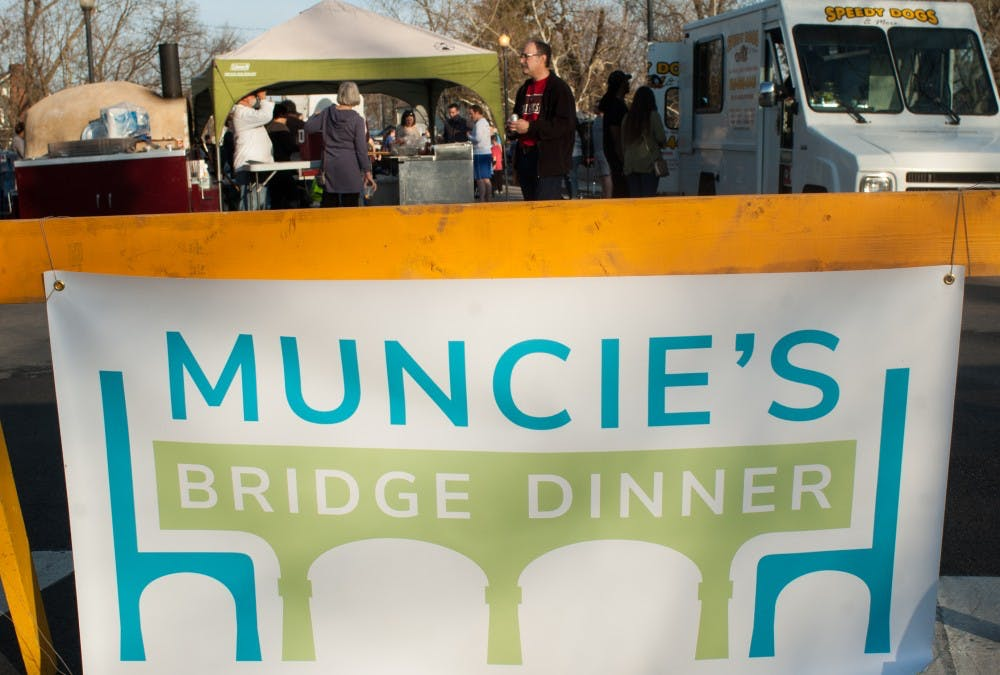 Muncie's 2nd Bridge Dinner was hosted on the Washington Street Bridge on April 26. Madeline Grosh, DN