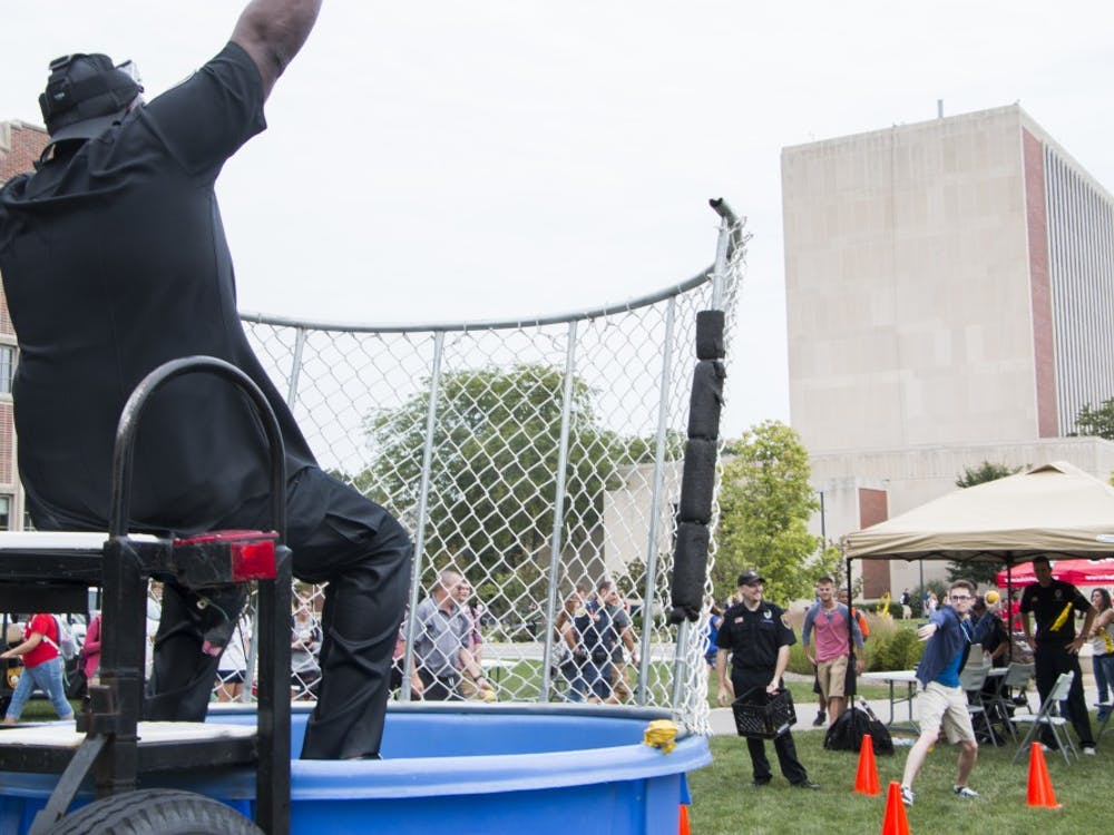 Dunk-A-Cop took place on Aug. 29 at the Scramble Light.