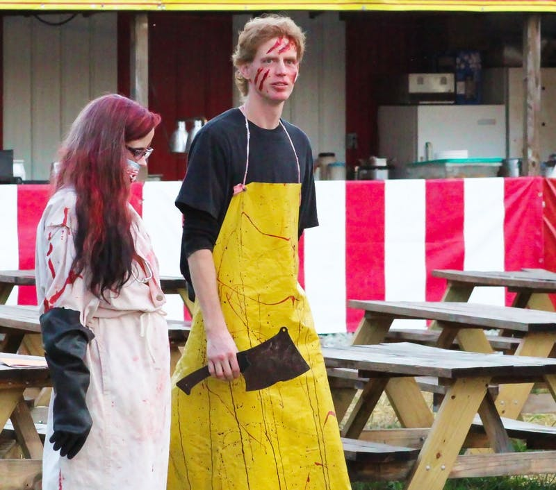 Ball State Daily News and Byte reporters attended Indy Scream Park media night Oct. 5, 2018. Actors from one returning attraction, Backwoods, said they may be older, but they can still provide plenty of scares. Eben Griger, Byte.