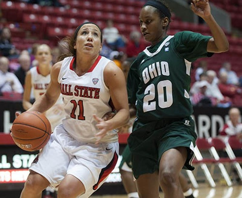 WOMEN'S BASKETBALL: Ball State beats Ohio behind Woody's 23 points