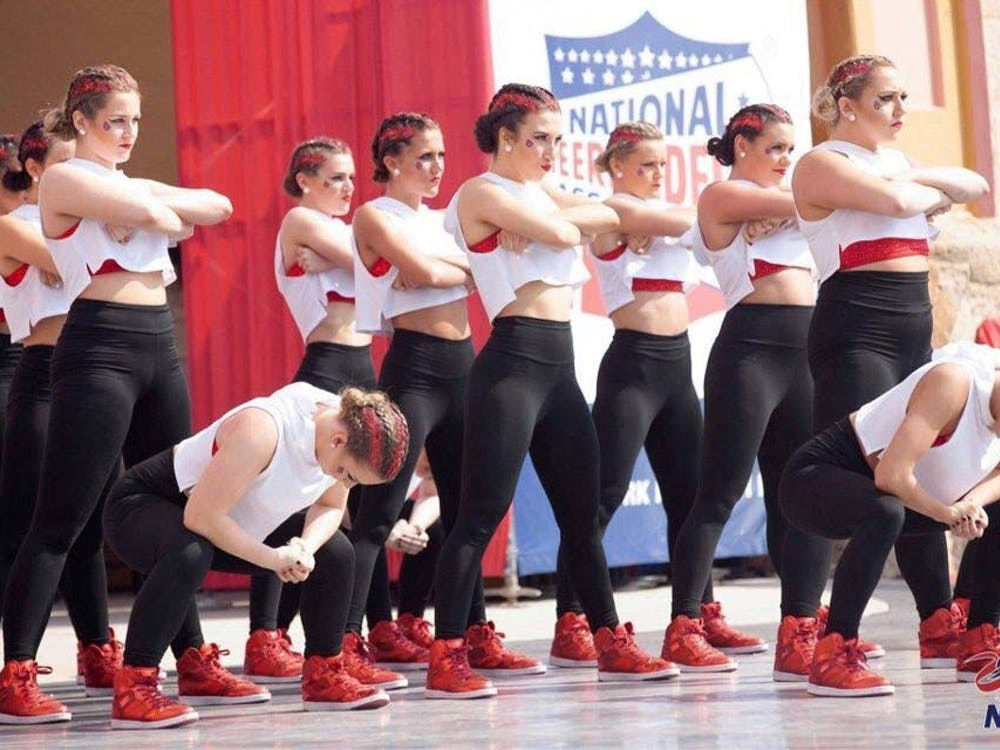 The Code Red dance team proves its skills through syncronized dancing during the 2018-19 National competition April 2-6 in Dayton, Florida. This year, the team switched from the UDA competition to the NDA. NDA, photo courtesy.