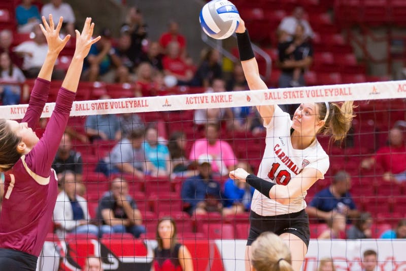 Cardinals lose 1st volleyball home opener since 2008