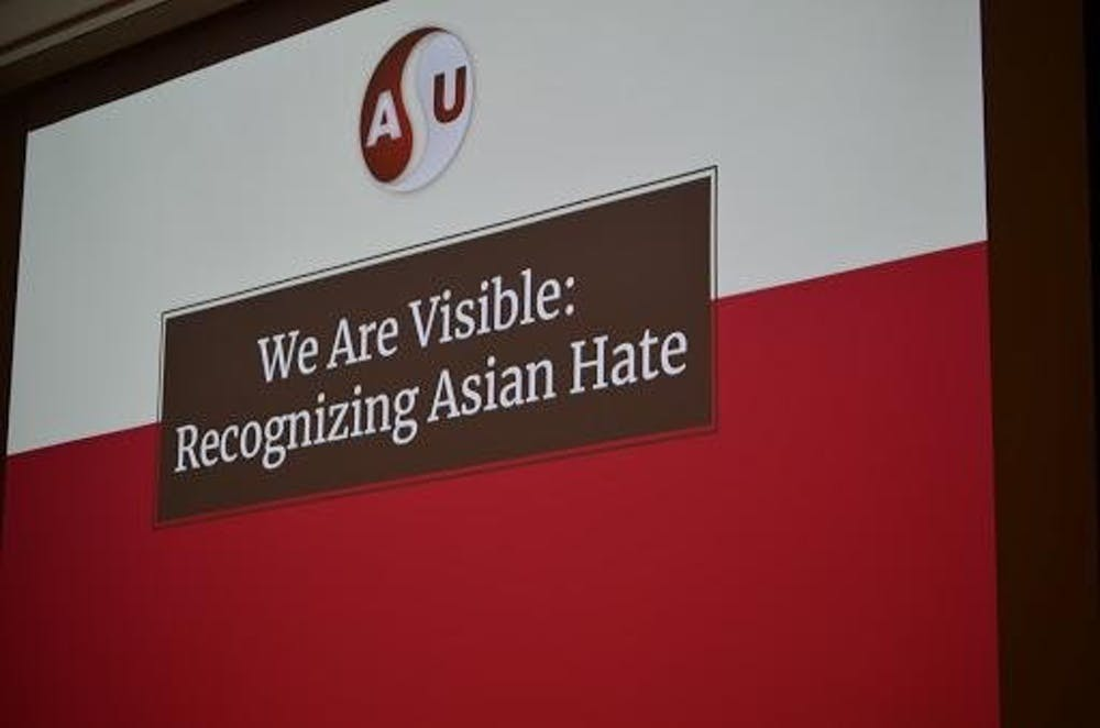 <p>The Asian Student Union hosted &quot;We Are Visible: Recognizing Asian Hate&quot; in the Teachers College March 22, 2021. Attendees discussed ways to confront and cope with Asian hate crimes. <strong>Evan Weaver, DN</strong></p>