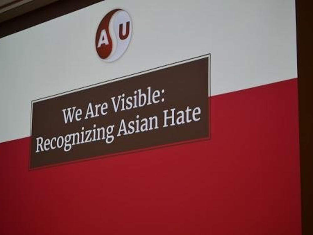 "The Asian Student Union hosted ""We Are Visible: Recognizing Asian Hate"" in the Teachers College March 22, 2021. Attendees discussed ways to confront and cope with Asian hate crimes. Evan Weaver, DN"