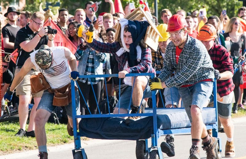 The Bed Races this year will take place on Oct. 19 down Riverside Ave. The Bed Races is an annual homecoming event where teams race beds on wheels across a 100 yard course. Rachel Ellis, DN