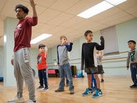 Young boys rehearse in their fall class at Cornerstone Center for the Arts Nov. 7, 2018. On Dec. 10, all classes will be showcased in a two act performance starting at 5 p.m. Jessie Fisher, Photo provided.