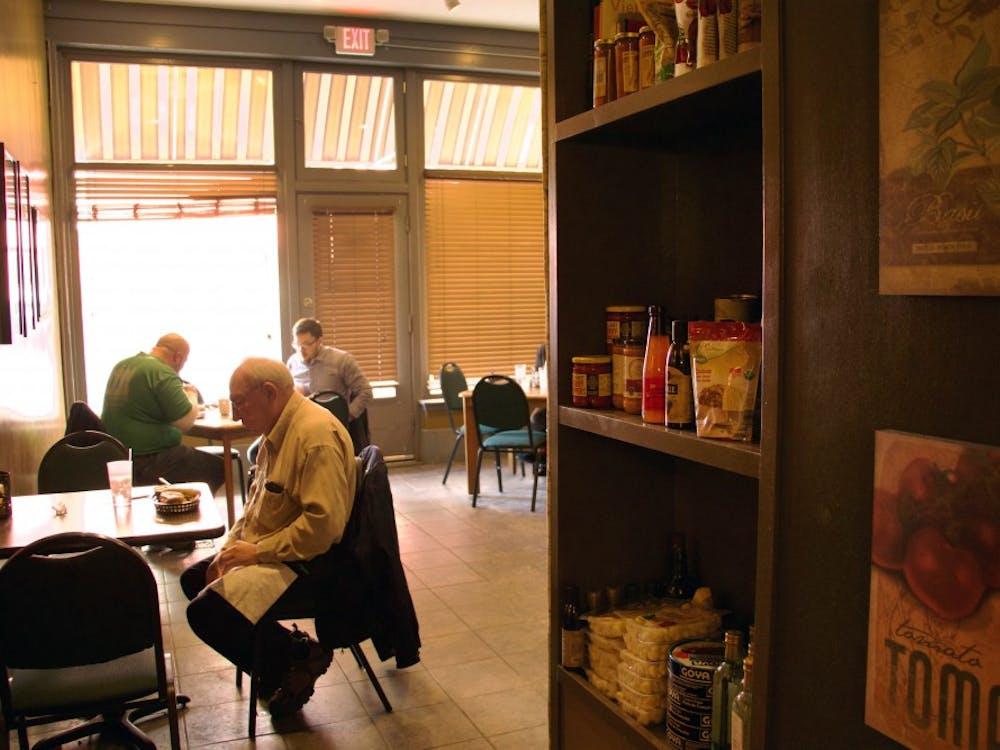 Harmony Café displays all their ingredients on a shelf in their shop in downtown Muncie, Indiana Jan. 18, 2018 (NEWS 397/Mara Semon).