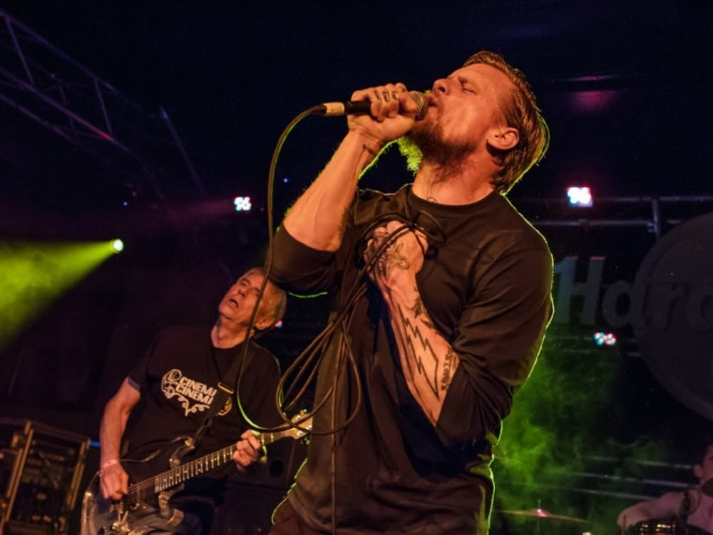 Mike Vallely of Black Flag performs during a concert. Vallely is the lead singer for the hardcore punk band. PHOTO PROVIDED BY KAREN MANDALL