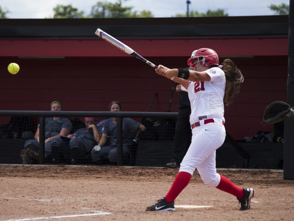 Sophomore Madison Lee swings at the ball at the game againstDN FILE PHOTO GRACE RAMEY