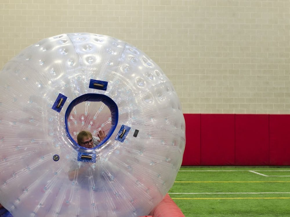 Students had a chance to relieve stress at the Stress Busters event on April 22 at the Indoor Turf Field at the Jo Ann Gora Student Recreation and Wellness Center.