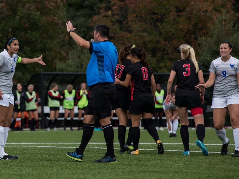 Ball State soccer took on the University at Buffalo Sunday, Oct. 14, 2018, where they defeated the Bulls 1-0 with the only goal scored by Kennedy Metzger in the first half.  From the sound of the whistle all the way to full time, the Cardinals and Bulls fought to try and change the score drawing an accumulative 24 fouls. Ball State had a total of 15 shots throughout the game and Buffalo had 10. This game marked the fourth consecutive win for the Cardinals bringing their overall season record to 9-3-2.  Their next two games will be away at Central Michigan on the 18th and Eastern Michigan on the 21st.