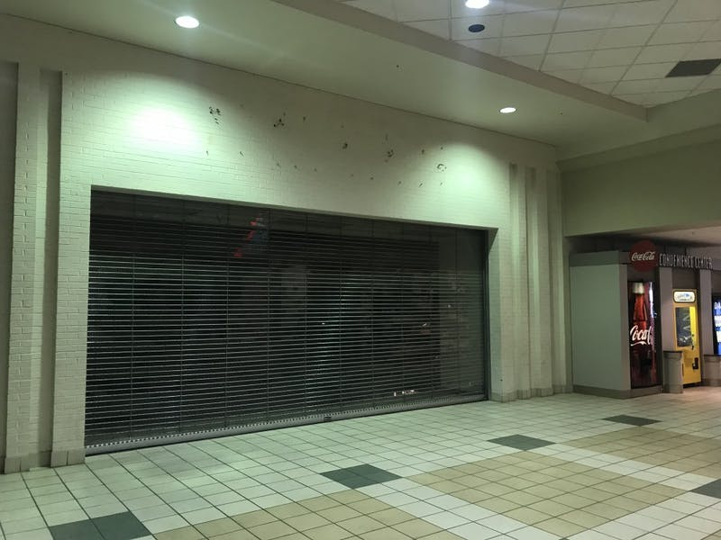 Muncie Mall's empty Sears storefront that closed Aug. 31. The company filed for Chapter 11 bankruptcy Oct. 15 after several stores across the nation closed due to financial situations. Chase Martin, DN