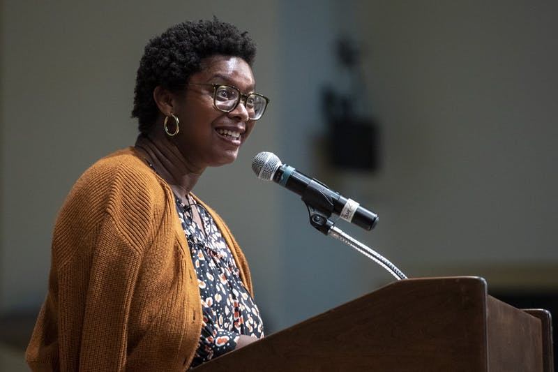 """Ashley Ford, fall 2021 writer-in-residence, reads from her book """"Somebody's Daughter"""""""