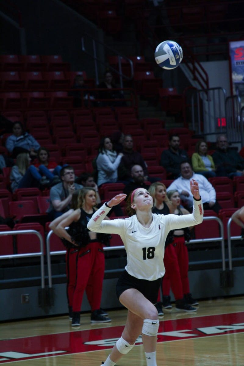 Ball State Women's volleyball team play Akron University