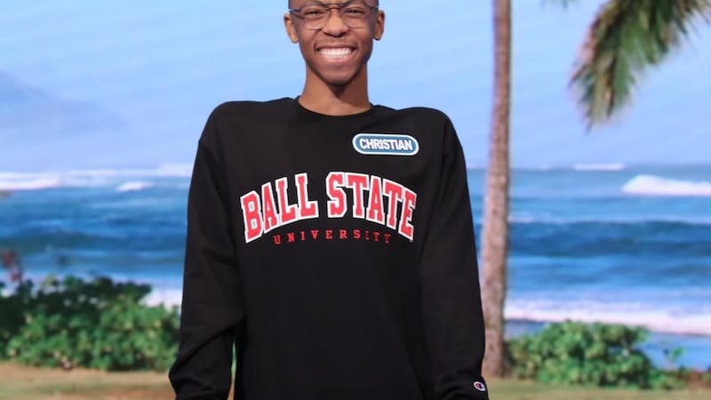 """Freshman Christian Dixie became the first Ball State student to play on """"Wheel of Fortune's"""" """"College Week"""" on Feb. 6. His episode aired March 17 where he won more than $65,000 in cash and prizes. Sony Pictures, Photo Provided"""
