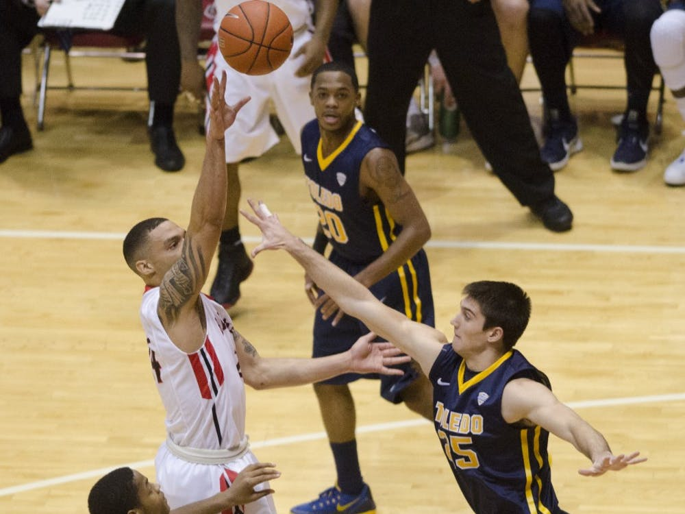 The Ball State men's basketball team faced Toledo at home on Feb. 7 at Worthen Arena. Ball State lost 72-61.