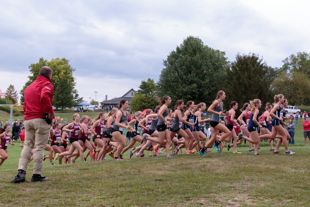 Butler hosts the Butler Twilight cross country meet at Northview Church on Sept. 1, in Carmel, IN. The Cardinals placed third with a total score of 55. Kyle Crawford, DN