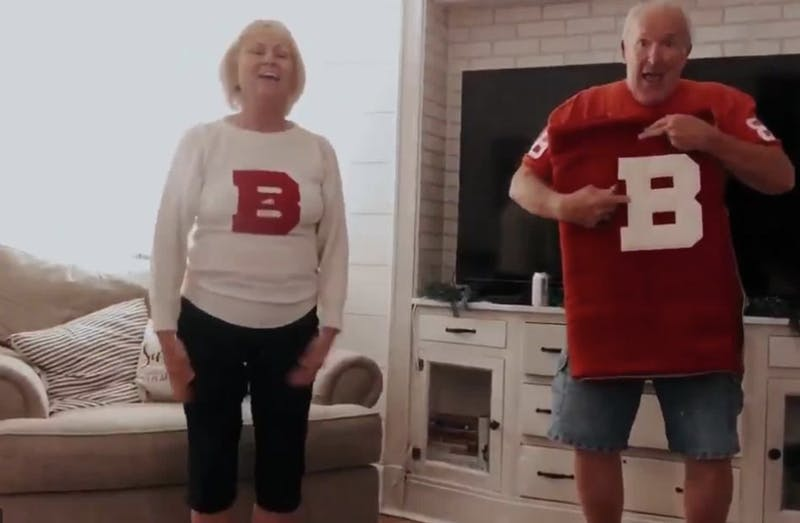 Ball State grandparents celebrate granddaughter's commitment to Ball State in adorable video