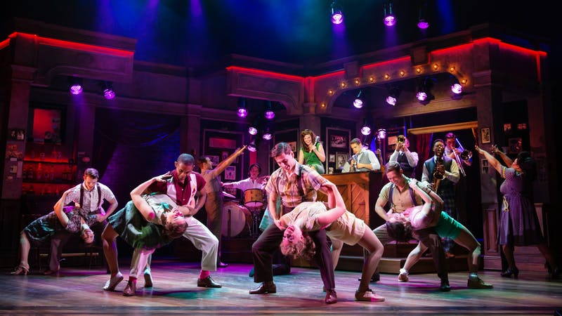 "The ensemble cast of ""Bandstand"" performs a dance number to music from the ""Donny Nova Band."" The musical won a Tony Award for ""Best Choreography"" in 2017. Jeremy Daniel, Photo Courtesy"