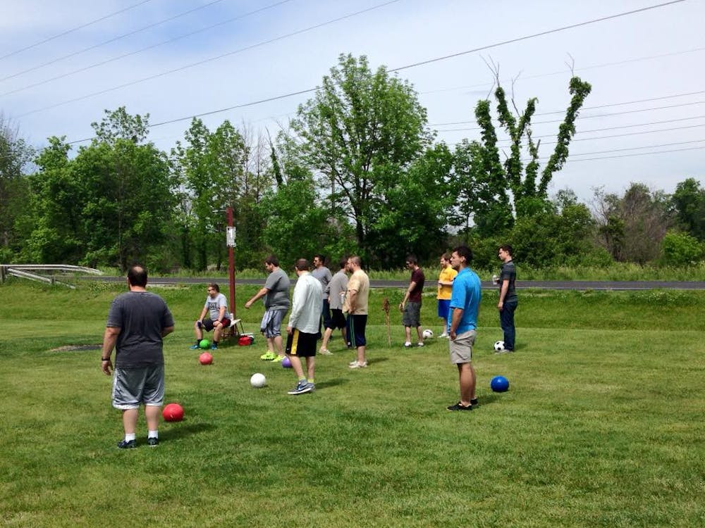 David Jordan, owner of Trailside Golf and Footgolf, brought footgolf to Muncie nearly a year ago. Players kick a soccer ball across the 9- and 18-hole golf courses into large cups in the ground.  Photo Courtesy // Trailside Golf & Footgolf