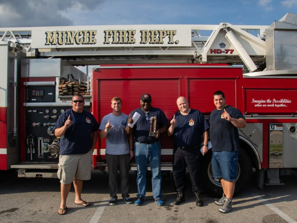 The Muncie Fire Department and Police Department gathered at Texas Roadhouse on Sept. 18, 2018, to participate in the fifth annual Battle of the Badges Rib-Eating Competition. Ten percent of all meals bought during the competition was donated to the charity of the winner's choosing. The Fire Department chose Toys for Tots because they work with the organization every year during the holiday season.