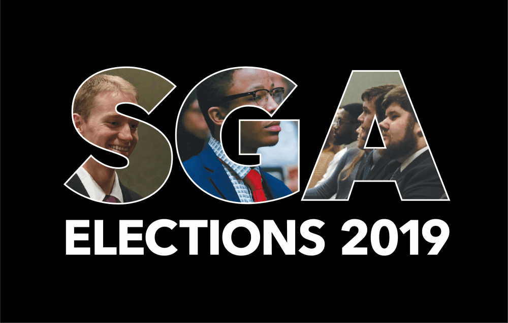Empower, Elevate and United kicked off their campaigns for 2019's Student Government Association (SGA) Elections Tuesday. The three new SGA slates were announced Feb. 12, 2019, at the Nomination Convention. Photos: Scott Fleener, DN; Graphic: Emily Wright, DN