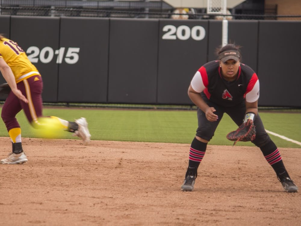 The Cardinals took on Central Michigan in a double header April 21 at the softball field at First Merchant's Ballpark Complex. Ball State won both games 2 to 1.