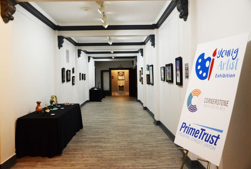 The Young Artists Exhibitioin is featured in a gallery room on the second floor of Cornerstone Center for the Arts in Muncie through the month of April. Cornerstone welcomes more than 150,000 guests each year. Tier Morrow, DN