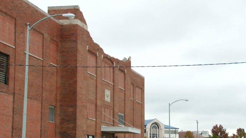 Muncie Fieldhouse damaged