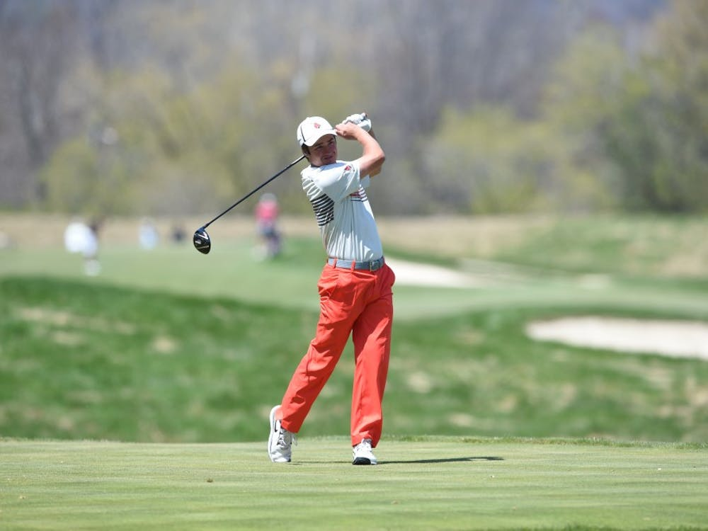 Freshman Johnny Watts became the third Ball State golfer in history to win the individual championship for the Mid-American Conference Tournament. Watts is also the first Ball State freshman to win it. PHOTO PROVIDED BY BALL STATE ATHLETICS
