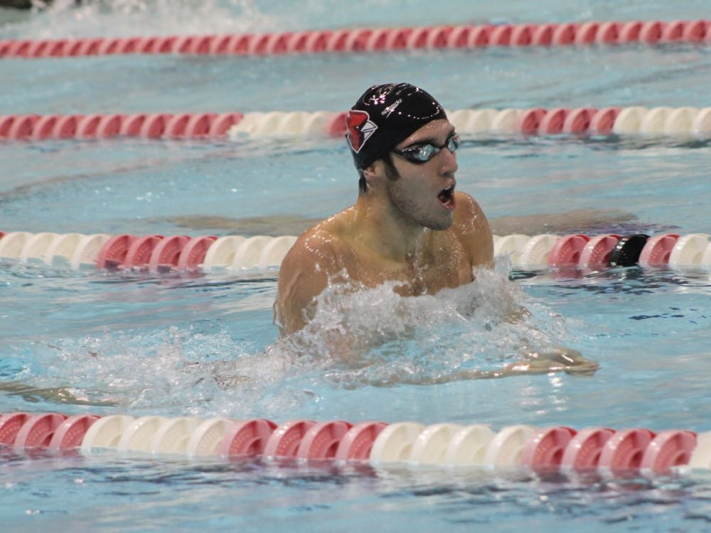 Ball State's men's swim and dive team will compete against Notre Dame for the Cardinal's final home meet on Feb. 3. This meet is also the seniors last home meet at Lewellen Aquatic Center. Patrick Murphy // DN File