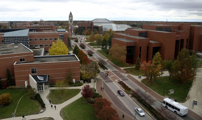 Ball State University campus from the ninth floor of Teachers College Nov. 6, 2018. Paige Grider, DN