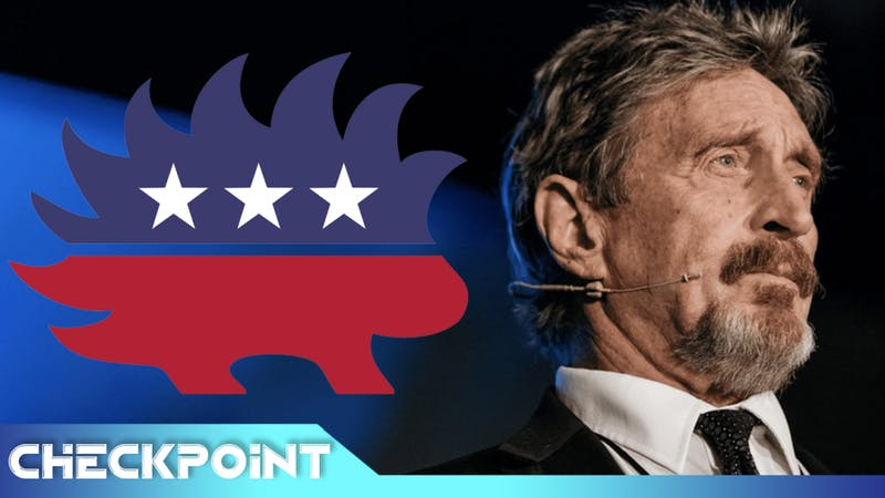 John McAfee's Insane Plans For President 2020 | Checkpoint