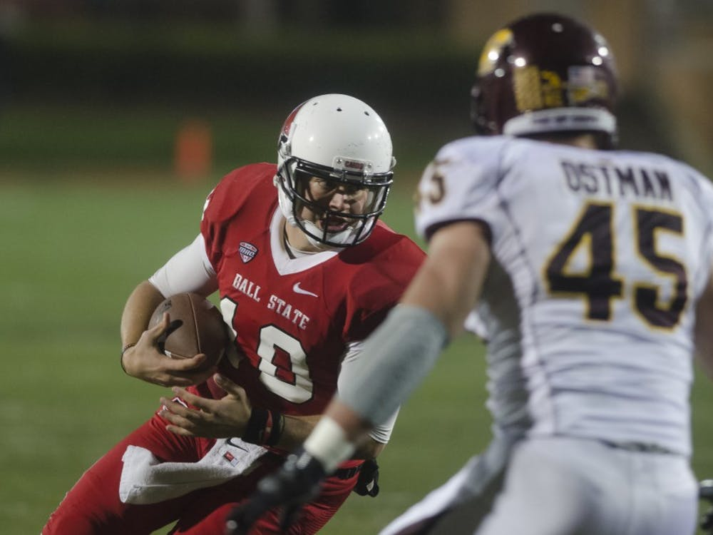 The Cardinals battled the Chippewas on Nov. 6 at Scheumann. Ball State walked away victorious 44-24.
