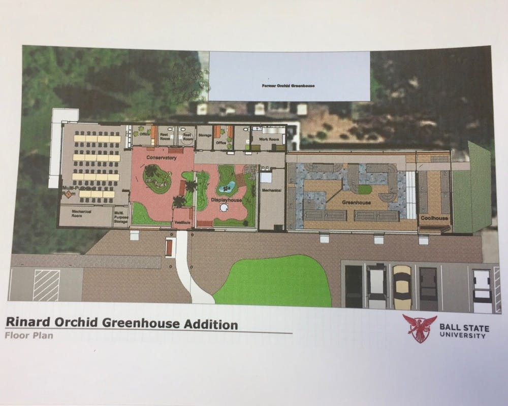 The Rinard Orchid Greenhouse is working to raise support to expand. Expansions will add a multipurpose room and double the size of the conservatory. Cheryl LeBlanc, Photo Provided