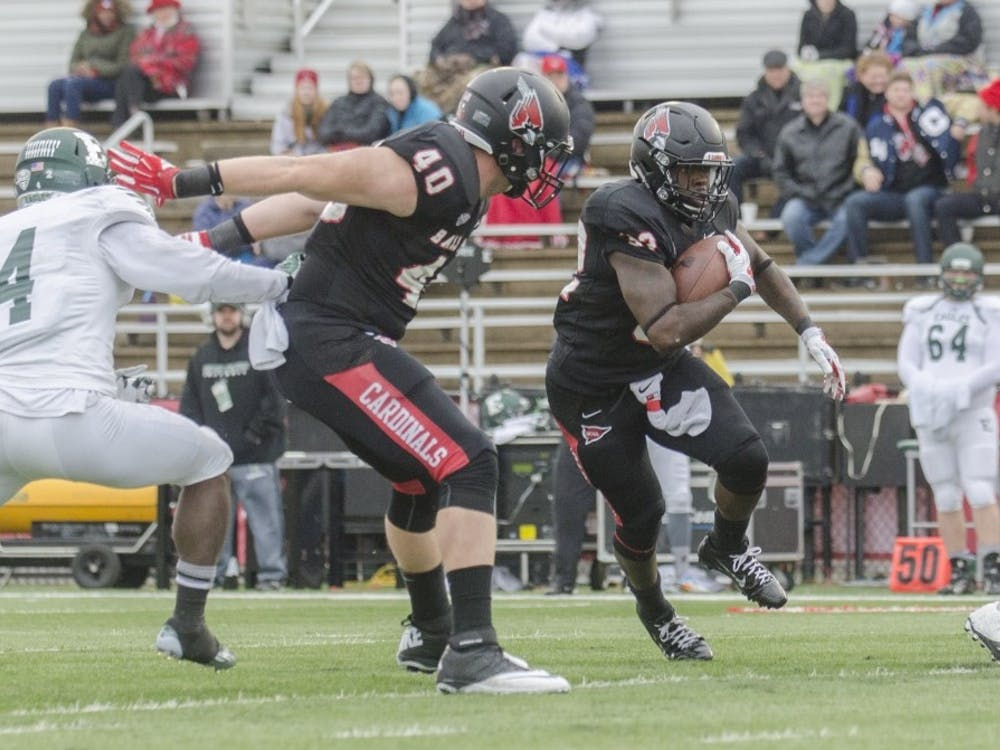 Jahwan Edwards played his last home football game in a 45-20 victory on Senior Day.