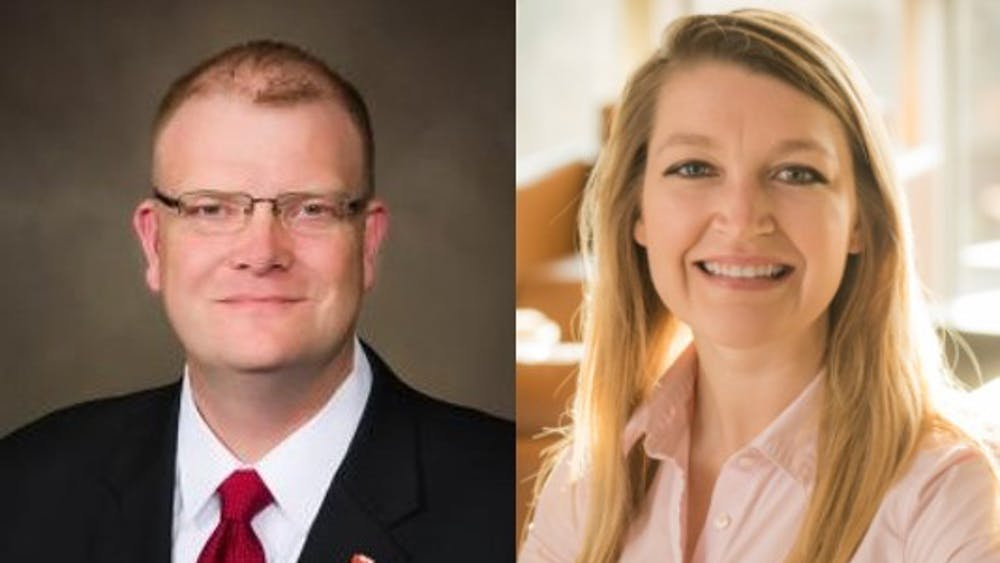 (Left to right) Corey Hartley will serve as the new principal of Southside Middle School. Sarah Shaffer will serve as the new principal of East Washington Academy. Muncie Community Schools, Photos Provided