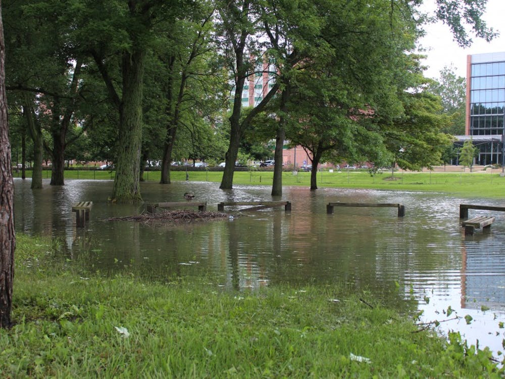 Storms on June 26 caused flooding in multiple areas around campus.