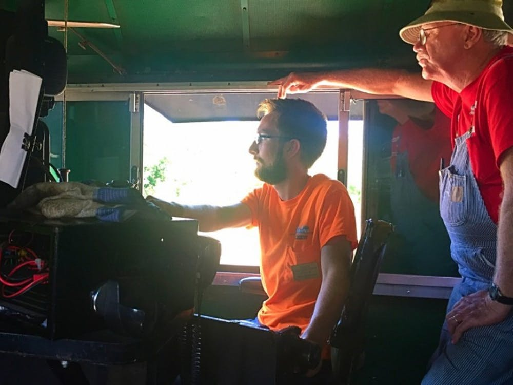 Junior William Cate is also a volunteer train conductor on the train between Indianapolis and Fishers, Ind.HENDRIX MAGLEY /BSU JOURNALISM AT THE FAIR