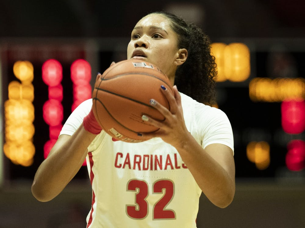 Ball State Cardinals senior forward Oshlynn Brown shoots a free throw during the second quarter against the Bowling Green Falcons Jan. 2, 2020, at John E. Worthen Arena. The Cardinals lost to the Falcons 89-55. Jacob Musselman, DN