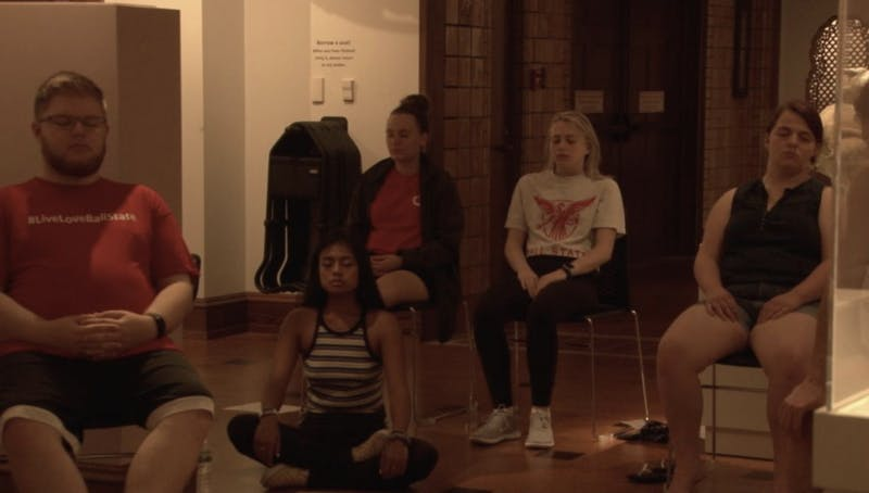Meditation in the Museum is a free and open to the public event held every Friday at the David Owsley Art Museum.