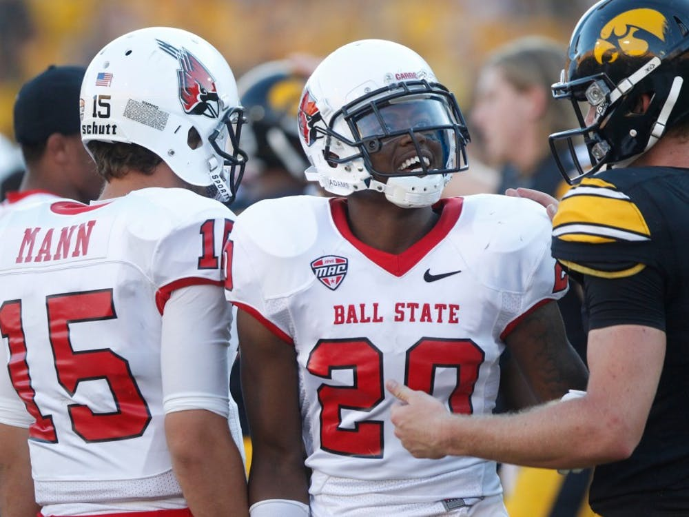 Ball State faced Iowa atKinnick Stadium in Iowa City on Sept. 6. Ball State lost 13-17.