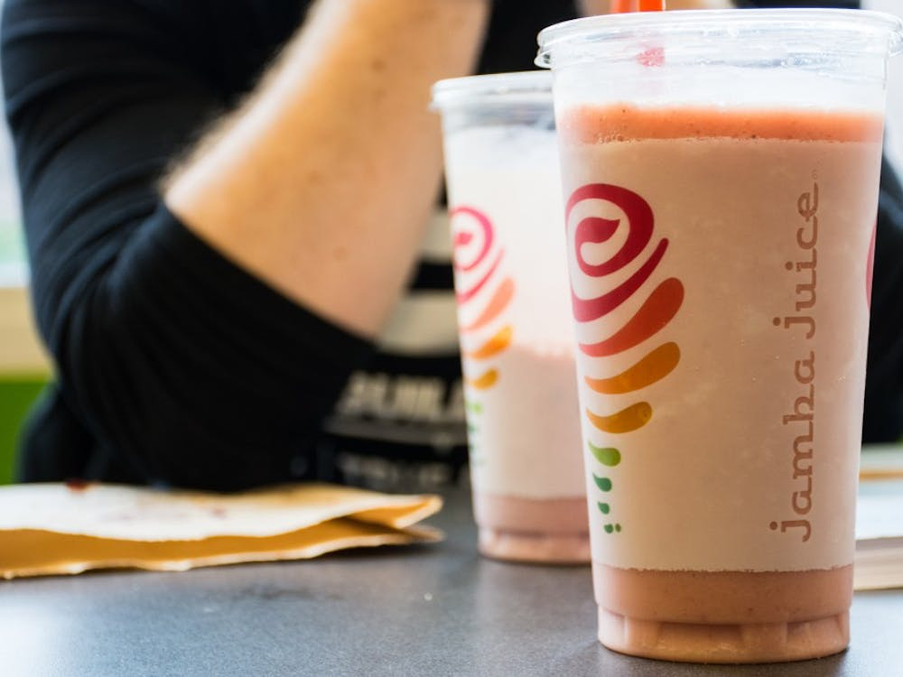 Jamba Juice reopened Jan. 11 after spending around $1,300 to repair a broken sanitary drain in the restaurant. The drain, which supports part of the east serving area of Jamba Juice, collapsed last semester, shortly before finals week, after becoming clogged with mud. Kaiti Sullivan // DN