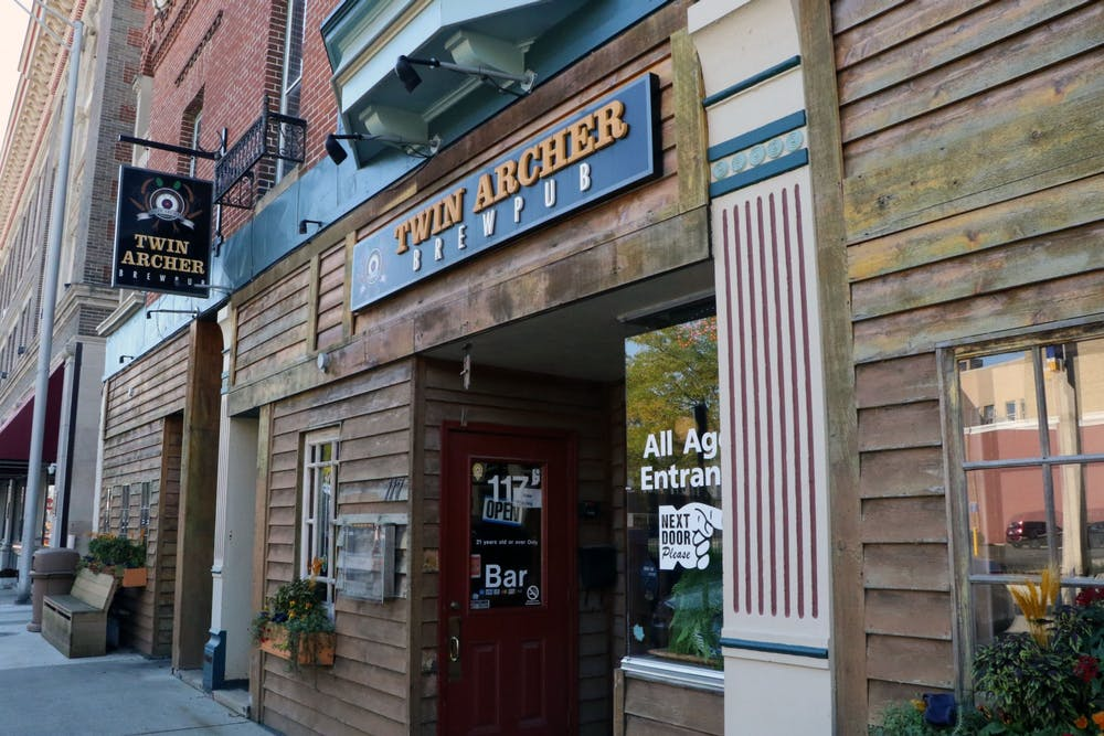 <p>Twin Archer Brewpub is located in downtown Muncie at 117 W. Charles St. Since the COVID-19 pandemic began in March 2020, Scottie Limbird, Twin Archer Brewpub managing partner, said they have run into a lot of issues, particularly with staffing. <strong>Maya Wilkins, DN</strong></p>
