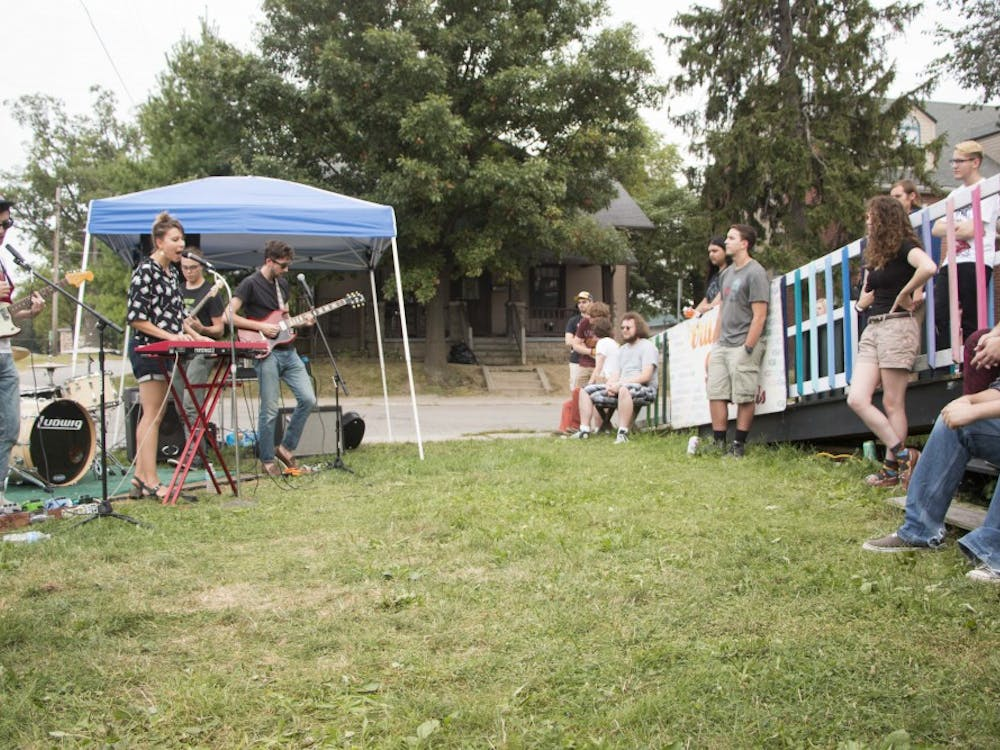Village Green Records hosted their annual Back to School show on Aug. 29 on their lawn. The show featured various bands from Bloomington, Muncie and Fort Wayne.