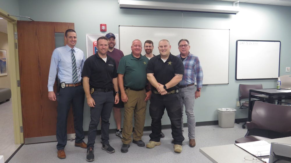 <p>Officers from local departments gather together in an Ivy Tech classroom for Project Sybertooth April 30. Officers from the Muncie Police Department, Delaware County Sheriff&#x27;s Office and Ball State University Police Department can take these classes to learn more about cybersecurity. <strong>The Ball Brothers Foundation, Photo Provided</strong></p>