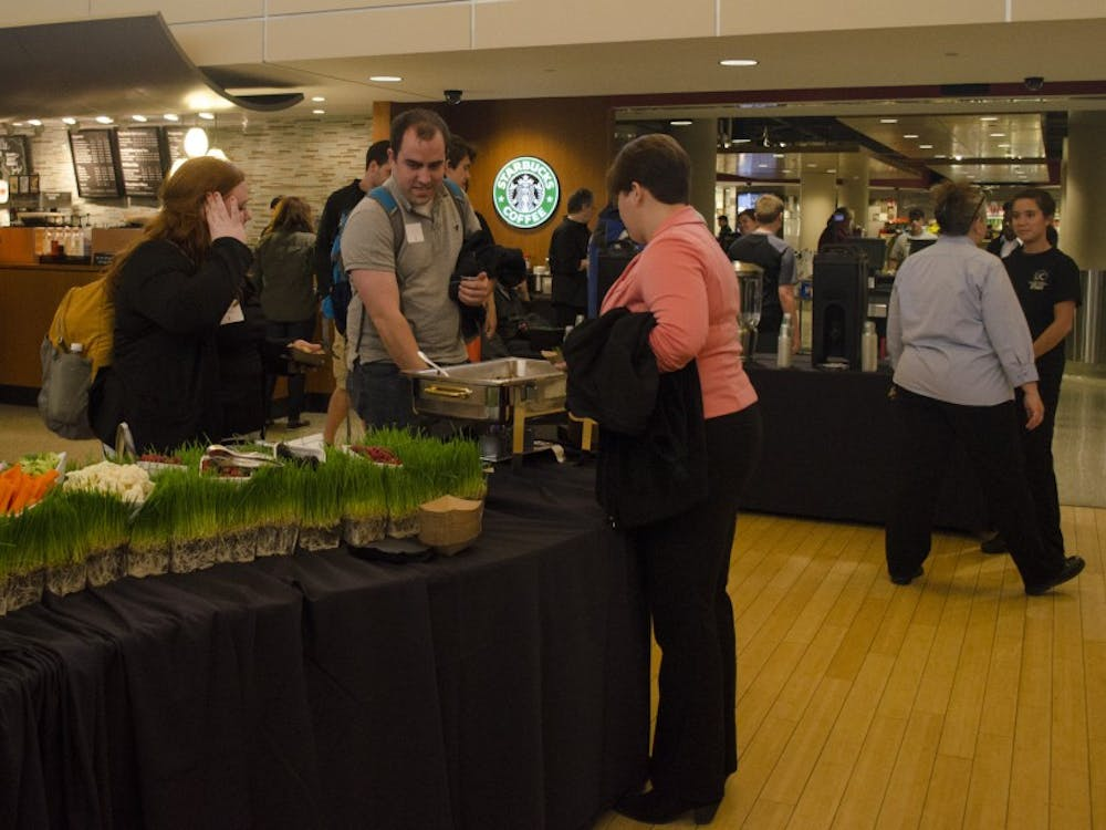 A Student Reception for President Gora was on April 16 at the L.A. Pittenger Student Center.