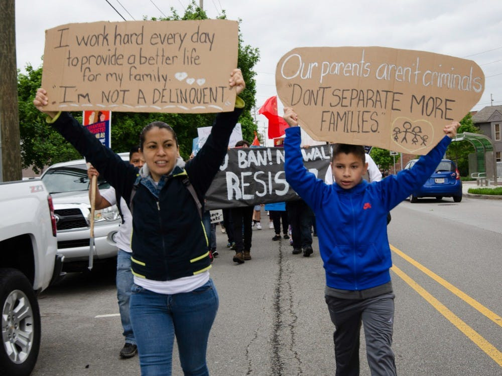 ' Day without immigrants' was held on May 1 at Indianapolis. This movement was set across the nation and was considered to be the largest immigrant rights action to protest against the discriminiation towads immigrant and undocumented communities.  Stephanie Amador // MBRACE